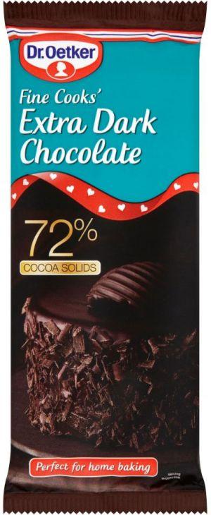 Extra czarna czekolada 72% kakao